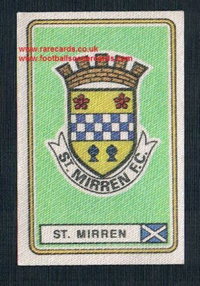 1979 Panini Football 79 silk sticker with backing paper, near new 578 St. Mirren